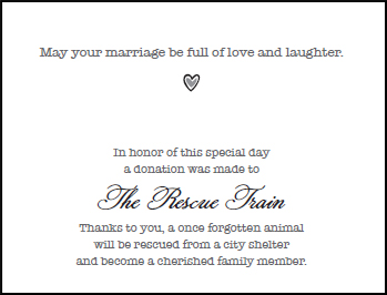 Wedding Gift Cards The Of Love Giving Life To Dogs And Cats